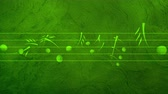 půltón : Animated background with musical notes, Music notes flowing, flying stream of Music Notes - Seamless LOOP