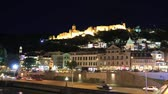 Timelapse view of the Tbilisi city center and Narikala Fortress
