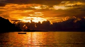Sunset over the Sea, the Indian Ocean Seychelles Wideo