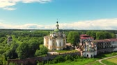 bell tower : Cathedral of the Ascension of the Lord. Spaso-Sumorin Monastery. Totma. Vologda Region. Russia. view in flight.