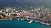 dalmatia : Europe. Croatia. Makarska.View from the drone in 4K on the Riviera of the city of Makarska