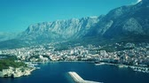 dalmácia : Europe. Croatia. Makarska.View from the drone in 4K on the Riviera of the city of Makarska