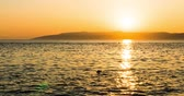 Mediterranean. Sunset over the sea in Croatia in 4k Stock Footage