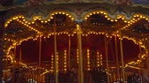 circo : Germany. Berlin December 2018. Christmas carousel at the new years fair Stock Footage