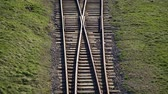 construcción de carreteras : Railway. Railway rails for trains branching track