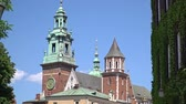 クラクフ : Royal Wawel Gothic Cathedral in Krakow, Poland 動画素材