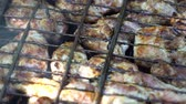 pork meat : pork kebab grilled in the open air