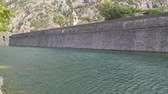 cantaria : The stone wall of the fortress around old Grod. Kotor, Montenegro