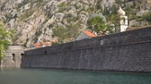 adriai : The stone wall of the fortress around old Grod. Kotor, Montenegro