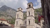 Montenegro, Kotor. Old town. View of the clock tower