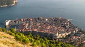 Time Lapse Of Dubrovnik. View from the height of Dubrovnik. sunset 무비클립