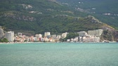 adriai : View of the town of Rafailovici from the sea, Montenegro