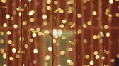 piscar : Abstract light. Blurred Christmas lights. bokeh background. Stock video