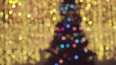 Blurred lights. Festive background. Christmas background