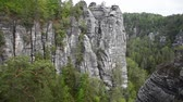 dresden : Video cliff of canyon in Saxon Switzerland Stock Footage
