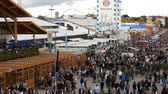 кренделек : September 17, 2017 - Oktoberfest, Munich, Germany: view of the huge crowd of people walking around the Oktoberfest in national bavarian suits,The famed folk festival in the world