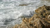 breaker : Waves beat against the rocky shore. Beautiful waves of the South China Sea close up view