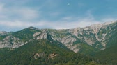 conquest : Beautiful majestic rocky Crimean mountains not far from the Foros Stock Footage