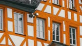 half timbered : Typical national German houses in the city of Furth in style of fachwerk or half-timbered. Stock Footage