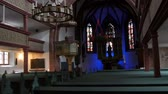 pew : Furth, Germany - December 3, 2018: The interior of the old Catholic church without people