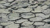 eroze : Dry land with many cracks. Natural drought. Dry lake with natural texture of cracked clay. Death Valley field. Earth Day Concept