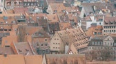jellegzetes : National authentic German red roofs in Nuremberg, Bavaria, Germany.