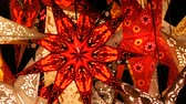 colorful backgrounds : Beautiful decorative paper glowing Christmas stars lights on Christmas market in Germany