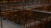 pays bas : Beautiful vintage bookshelves in the old library in the Rijksmuseum, Amsterdam Vidéos Libres De Droits