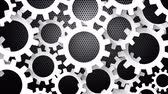 непрерывность : Rotating Gears Metal Background