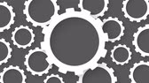 cogwheel abstract industrial background loop animation Stock Footage