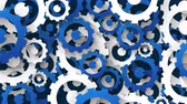 industrial background with blue and white cogs Stock Footage