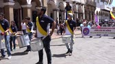equador : Cuenca, Ecuador - December 1, 2018 - Parade celebrates 50 years of Scouts in Cuenca - with sound