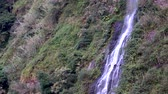 şelaleler : Banos, Ecuador - September 24, 2018 - Casacada de la Virgen Waterfall Static Drone Position