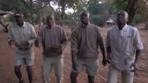 텐트 : Camp staff sings when guests return from game drive in Botswana. 무비클립