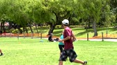 disk : Cuenca, Ecuador - 2019-02-10 - Pickup Extreme Frisbee in Park - Full Goal.
