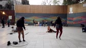 dançarina : Valparaiso, Chile - 2019-07-13 - Students Practice Hoops and Hip Hop Dance. Vídeos