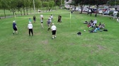 tribunal : Cuenca, Ecuador - 2019-02-10 - Park Pickup Volleyball - Low Aerial Long Point.
