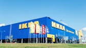 inexpensive : SAMARA, RUSSIA - Circa 2017: IKEA Samara Store. IKEA is the worlds largest furniture retailer and sells ready to assemble furniture. Founded in Sweden in 1943. Time Lapse. Stock Footage