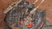recipe : Grilling fish on campfire.Full HD