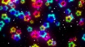 glitzern : Sterne Neon - Abstraktes Loop-Video Stock Footage