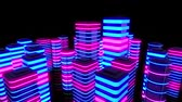 futurism : Neon City Loop Video- 3D Abstraction Animation