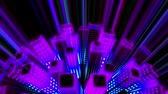 неон : Neon City Loop Video- 3D Abstraction Animation