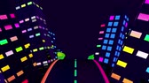 Neon City Loop Video- 3D Abstraction Animation