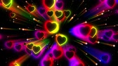 taniec : Heart Valentine Neon Loop Video