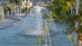 spurt : Beautiful garden fountain in slow motion Stock Footage