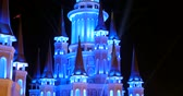 antalya : Turkey, Belek - 2017 October 4: Beautiful illuminated fairy castle in Land of Legends theme park in Belek, Antalya