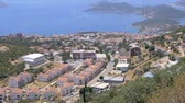 juni : Panoramic view of popular resort city Kas in Turkey from high point
