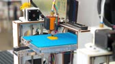 prototype : home made 3d print machine in working process Stock Footage