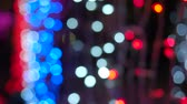 colorful defocus light in glitter festive holiday