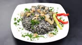risotto : Black risotto with shrimps